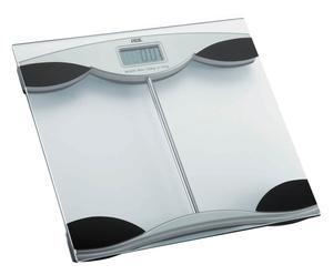 Pèse-personne XENIA verre, argenté et noir - 30*30