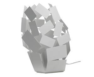 Lampe à poser STANZA acier inoxydable, blanc – H30