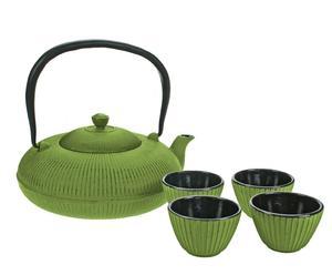 Service à thé fonte, vert - 1200 mL