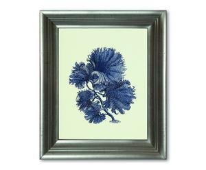 Impression encadrée ANNE, argenté et bleu - 24*30