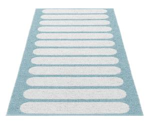 Tapis CHARLEEN vinyle et polyester, bleu et blanc - 150*200
