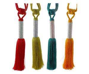 4 Embrasses rideaux JANINE coton, multicolore - L80