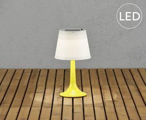 Lampe solaire ASSISI, jaune et blanc - H36