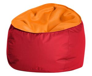 Pouf JIMMY polyester, rouge et orange - L80