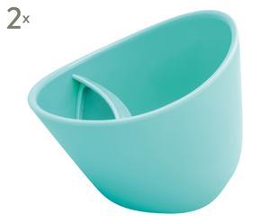 2 Tasses à thé, turquoise - 250mL
