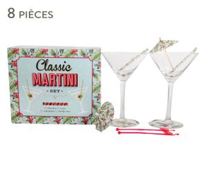 Service à Martini verre, transparent et multicolore - L24