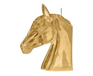 Bougie HORSE cire de paraffine, doré - H23