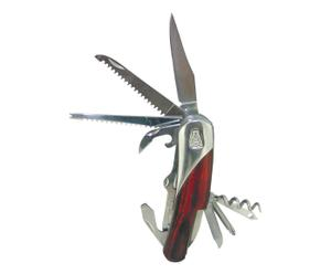Couteau multifonction de poche OCEAN, naturel et argenté - L20