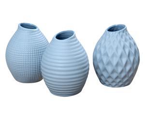 3 Vases, bleu clair - H13