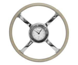 Horloge, beige et argenté - Ø41