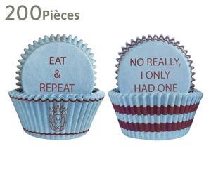 200 moules à muffins, bleu clair et bordeaux - Ø5