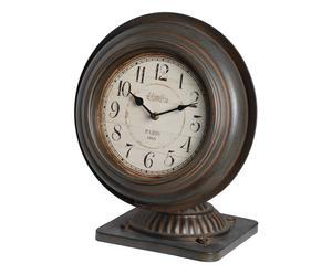 Horloge, marron et blanc - H47