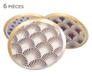 6 Dessous de verre RAY, violet - Ø10