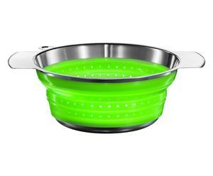 Passoire pliable, argenté et vert - 1,9L