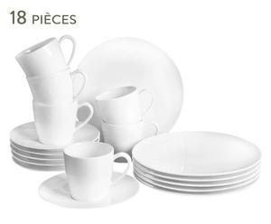 Service à café de 18 pièces BASIC - blanc