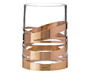 Vase TANGLE, cuivré et transparent - Ø17