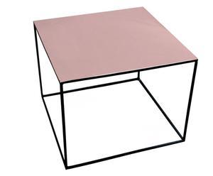 Table basse Laiton et Fer, Cuivré et noir - 60*60