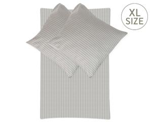 Parure de lit STRIPED flanelle de coton, gris - 200*200 & 80*80