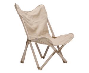 Chaise pliante Stuart Side, lin – beige