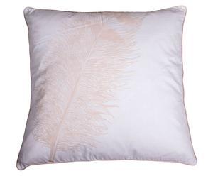 Housse de coussin Plume Coton, Noir et blanc - 60*60