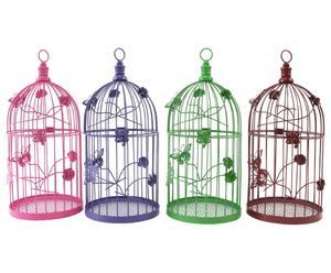 4 Lanternes Cage, métal - H37