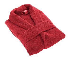 Peignoir coton peigné, Rouge - Taille S