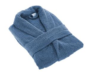 Peignoir coton peigné, Bleu marine - Taille S