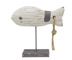 Statuette poisson, résine