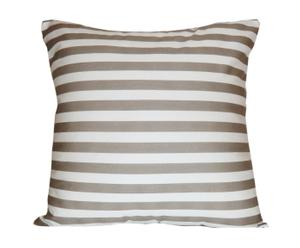 Housse de coussin Rayures, taupe - 55*55