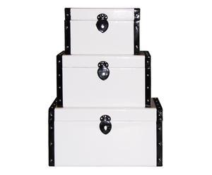 3 Malles, blanc et noir