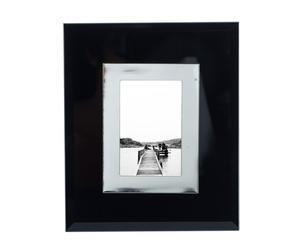 Cadre photo acier, noir – 17*22