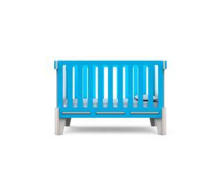 lit de bébé évolutif, turquoise - L132