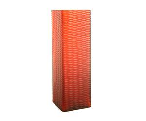 Vase carré Verre, rouge - H36