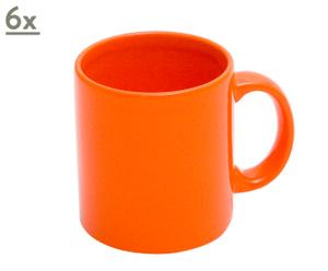 6 Mugs porcelaine, citrouille – 33cL