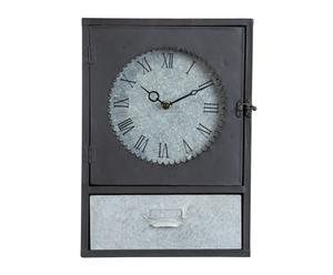 Armoire à clés Horloge, métal