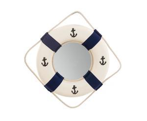 Miroir Miroir, Blanc et bleu marine - L45
