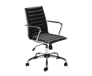 Chaise de bureau, Noir - L60