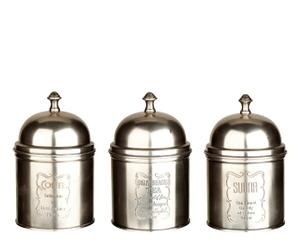 3 Boîtes, métal - H17