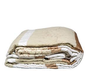 Courtepointe et 2 taies d'oreiller Briançon, coton et polyester - 270*235