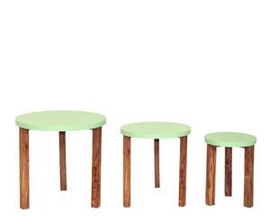 3 Tables gigognes Jeyo - Vert et naturel