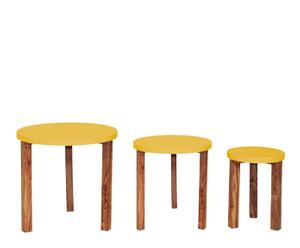 3 Tables gigognes Jeyo - Jaune et naturel