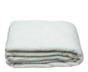 Dessus de lit Soie et coton, Blanc - 250*270