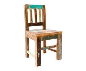 Chaise enfant Teck recyclé, Multicolore - L32