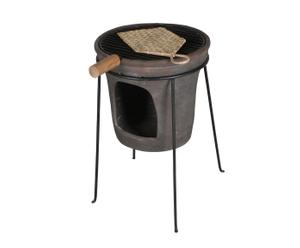 Petit barbecue Fer et Céramique, Bronze - H56