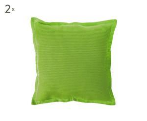2 Coussins  Coton, Vert – 45*45