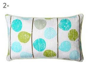 2 Coussins  Polyester, Bleu et vert - 30*50