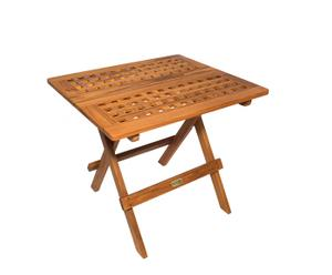 Table de jardin Teck, naturel - L58