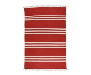 Tapis Coton, Rouge et blanc - 160*230
