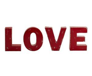 4 Lettres décoratives Evol Fer, Rouge - H29