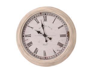 Horloge Bois, Blanc - Ø51